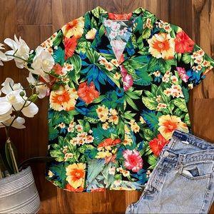 Softest lightweight Hawaiian Tropical shirt Large